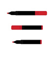 Red marker set vector image