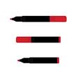 red marker set vector image vector image