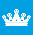 royal crown icon white vector image vector image