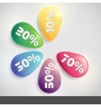 Sale Buttons With Discount vector image