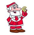 Santa Claus holding euro sign 2 vector image
