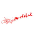 santa claus with sled and reindeers vector image vector image