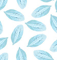 Seamless pattern with Blue flower petal vector image