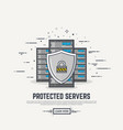 server protection line vector image vector image