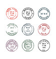 set of vintage postage stamps vector image