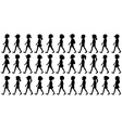 Silhouette of children walking vector image vector image