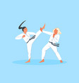 sport competition combat athlete training vector image