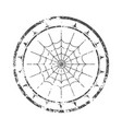 stamp with spider net vector image vector image