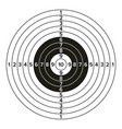 target gun classic paper shooting target vector image