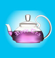 teapot of flower tea vector image