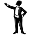 tenor opera singer silhouette vector image