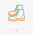 uncle boots for camping and hiking thin line icon vector image