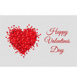 valentines day banner transparent background vector image vector image