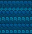 water seashells seamless pattern vector image