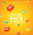 welcome back to school poster or banner vector image