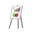 whiteboard with visualized information info stand vector image vector image