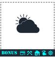 Sunny icon flat vector image