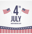 4th july 2 vector image vector image