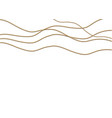 a beautiful chain of golden colorstring beads are vector image vector image
