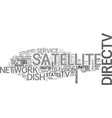 a brief on united states satellite tv deals text vector image vector image