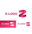 Abstract Z character logo icon template vector image vector image
