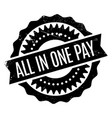 all in one pay rubber stamp vector image vector image