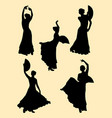 attractive woman dancing flamenco vector image vector image