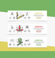 bad habits horizontal banners vector image vector image