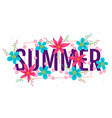 banner for summer vector image vector image