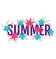 banner for summer vector image