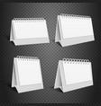 blank desk paper calendar empty folded envelope vector image vector image