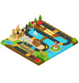 board game concept 3d isometric view vector image vector image