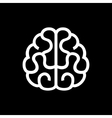 Brain Icon on Black Background vector image vector image