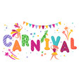 brazil carnival festive banner with dancing people vector image