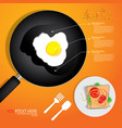 breakfast omelet vector image