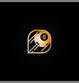 bright shiny golden casino logo vector image