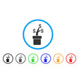 business project plant rounded icon vector image vector image