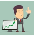 Businessman Presenting Business Growth Chart vector image