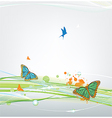 butterfly on abstract background vector image vector image