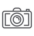 camera line icon photography and shoot photo vector image vector image