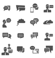 Chat icons black vector image