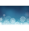christmas background with hand drawing snowflakes vector image