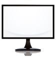 Computer monitor with blank white vector image