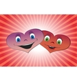 Couple of loving hearts vector image vector image