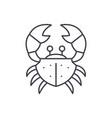 crab line icon concept crab linear vector image vector image
