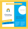 curtain company brochure template busienss vector image