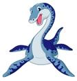Cute plesiosaurus cartoon vector image vector image