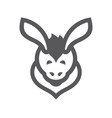 donkey simple sign vector image