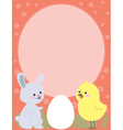 Easter Bunny and Chicken vector image vector image