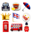 England icons set vector image